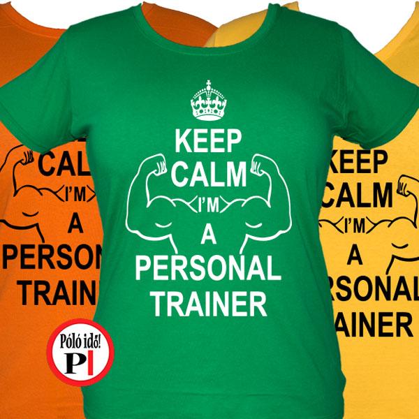 01542e57d6 Edző női póló personal training - Pólóidő - Egyedi pólók webáruháza