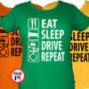 Eat Sleep Drive női póló