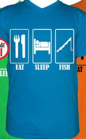 horgász póló eat sleep