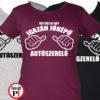 autószerelő női póló