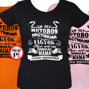 mama motoros póló családi