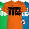 walking dog kutyás póló férfi