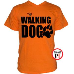 walking dog kutyás póló férfi piros walking dog kutyás póló férfi narancs bb653972b2