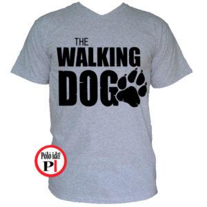 walking dog kutyás póló férfi vkék walking dog kutyás póló férfi szürke 7d5f894f96