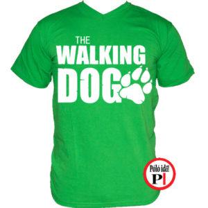 Walking dog kutyás póló férfi - Póló Idő - Egyedi pólók webáruháza c9e303231b