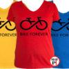 női bike forever biciklis póló