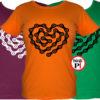 női lánc szív biciklis póló