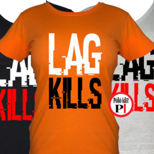 lag kills női gamer póló narancs