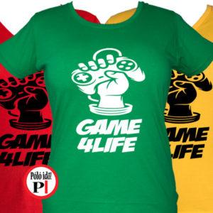 gamer póló game for life női