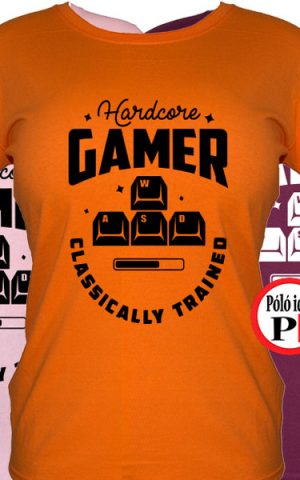 hardcore női gamer póló