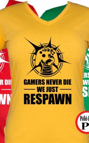 never die női gamer póló