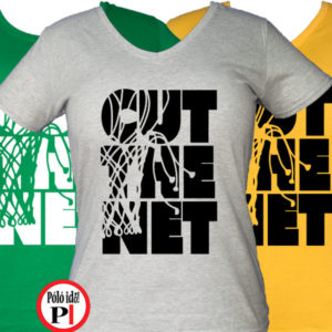 női cut the net kosaras póló