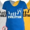 női kosárlabda evolúció póló