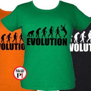 női evolúció teniszpóló
