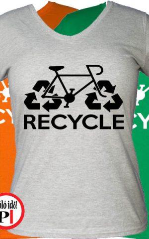 női recycle biciklis póló