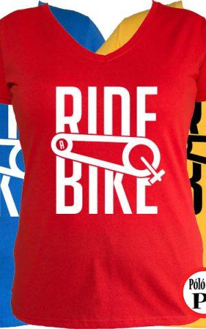 női ride bike biciklis póló