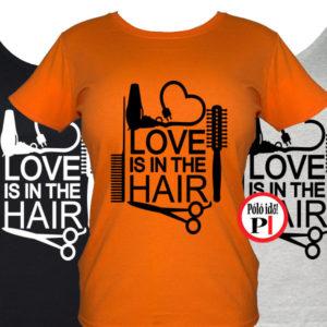 fodrász póló hair love