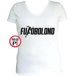 futó póló futóbolond női fehér