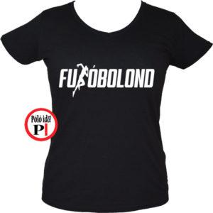 futó póló futóbolond női fekete