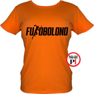 futó póló futóbolond női narancs