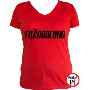 futó póló futóbolond női piros