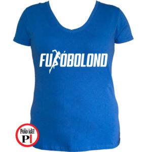 futó póló futóbolond női kék