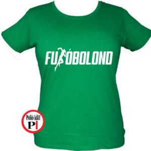 futó póló futóbolond női zöld