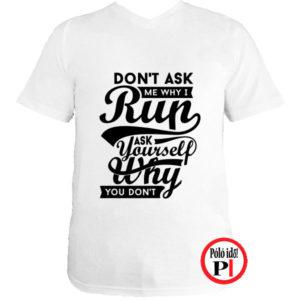 futó póló kérdezd fehér