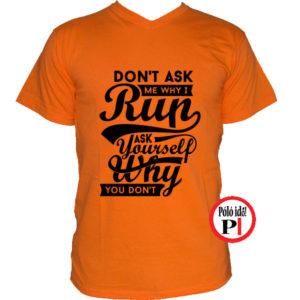 futó póló kérdezd narancs