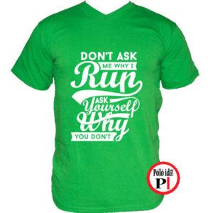 futó póló kérdezd zöld