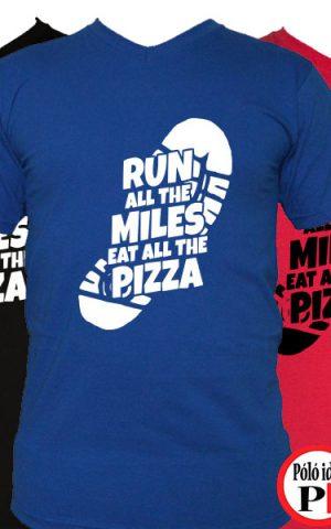 futó póló pizza miles