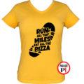 futó póló pizza miles női citrom
