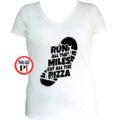 futó póló pizza miles női fehér