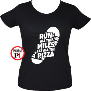 futó póló pizza miles női fekete