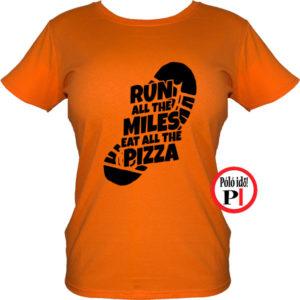 futó póló pizza miles női narancs