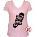 futó póló pizza miles női pink