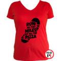 futó póló pizza miles női piros