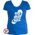 futó póló pizza miles női kék