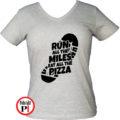 futó póló pizza miles női szürke
