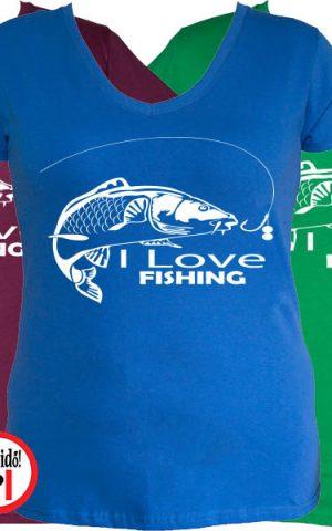 női ajándék póló horgászoknak