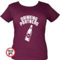 ivós póló partner női burgundi