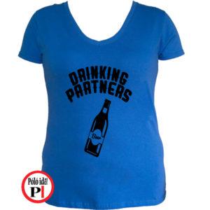 ivós póló partner női kék