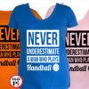 kézilabdás póló ne becsüld alá női
