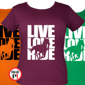 lovas póló live love ride női