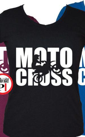 motor póló motocross női