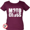 motor póló motocross női vurgundi