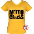 motor póló motocross női citrom
