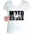 motor póló motocross női fehér