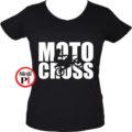 motor póló motocross női fekete
