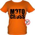 motor póló motocross női narancs